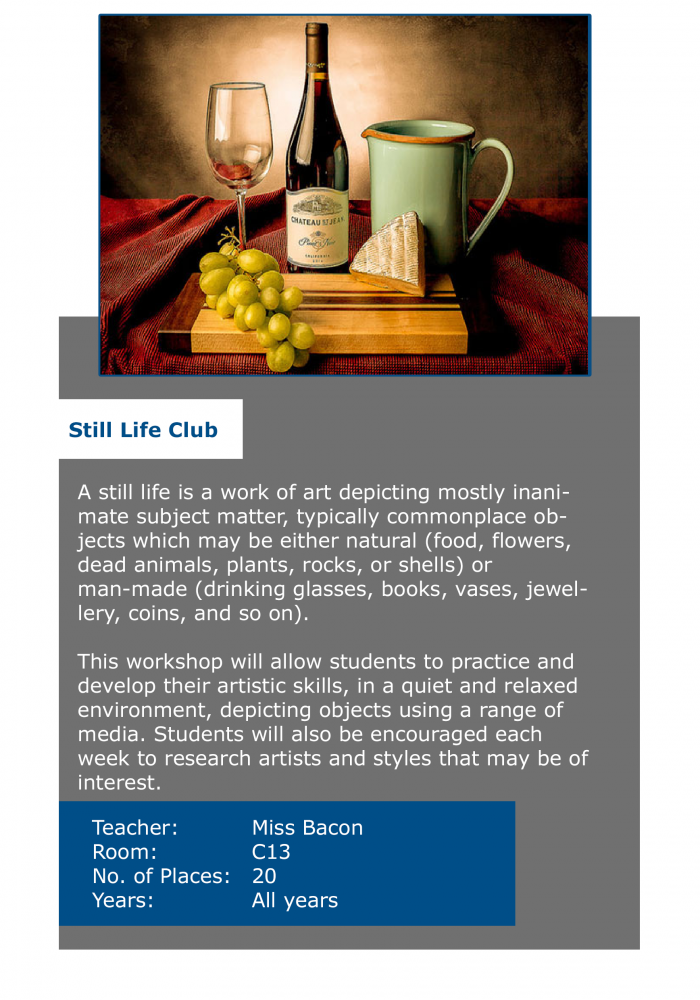 still life club
