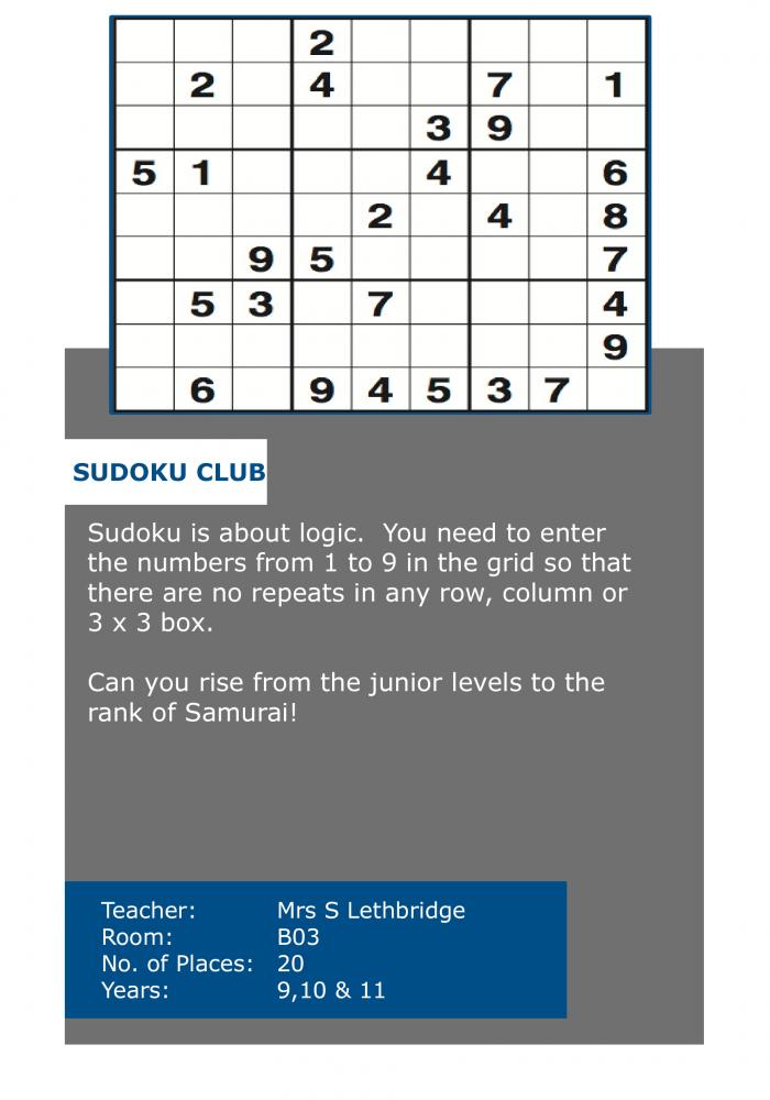 suduko club