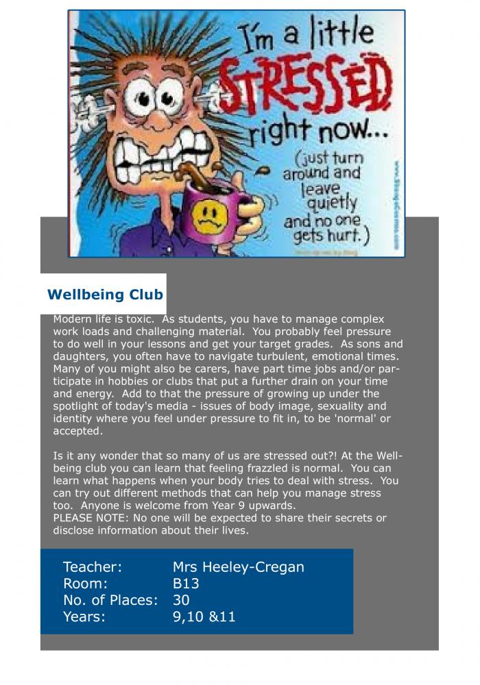 wellbeing club