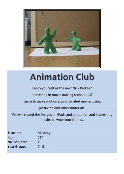 Animation Club 2018