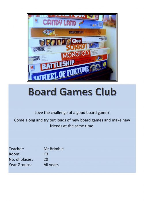Board Game Club 2018