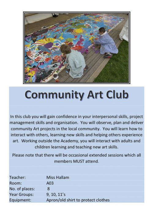 Community Art Club 2018