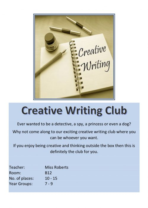 Creative Writing Club 2018