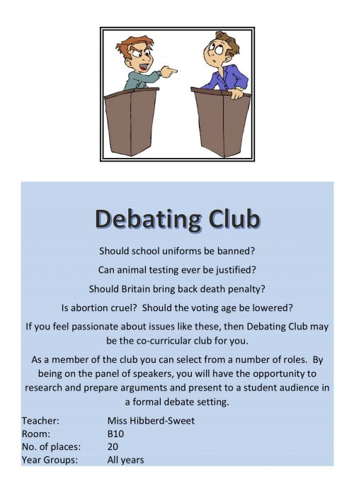 Debating Club 2018