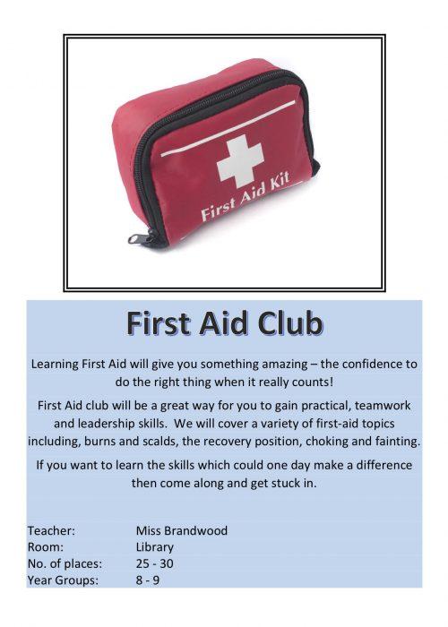 First Aid Club 2018