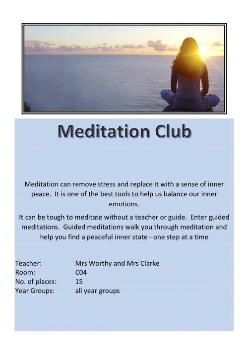 Meditation Club 2018