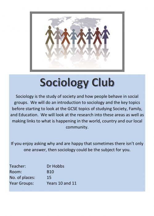 Sociology Club 2018