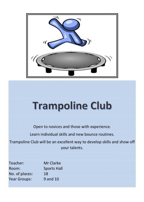 Trampolining Club 2018