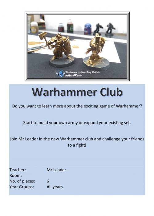 War Hammer Club 2018