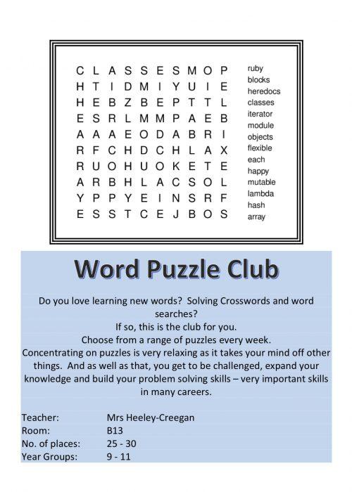 Word Puzzle Club 2018